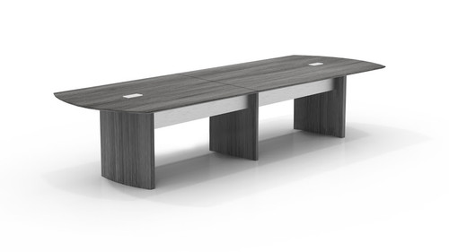 Mayline Medina Laminate 12' Conference Table In Gray Steel