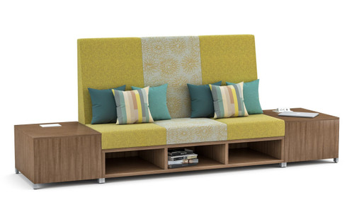 LB Lounge 3-Seater with Calibrate End Tables in Aimtoo Savatre