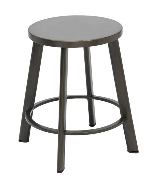 Metro Metal Stool with Natural Steel Seat 18""