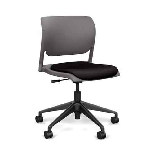 SitOnIt Inflex Light Tasker, silver frame, Slate shell, Sugar Licorice seat *Ships in 2 days!