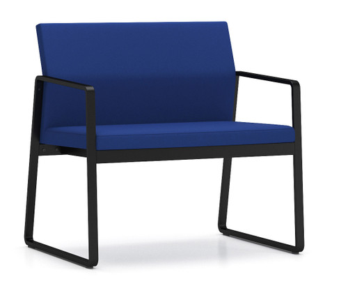 Gansett Bariatric Guest Chair with blackframe