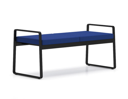 Gansett 2 Seat Bench with black frame