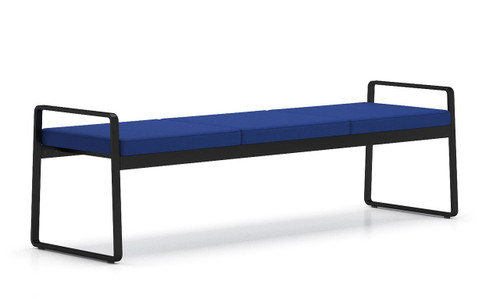 Gansett 3 Seat Bench with black frame