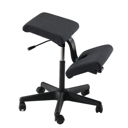 Varier Wing Kneeling Chair in Black Fame fabric