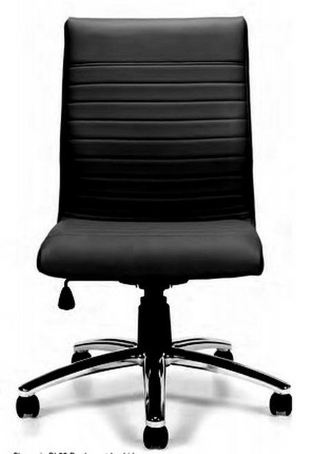 Luxhide Managers Chair, Armless