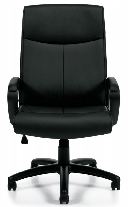 Luxhide Managers Chair with Mock Leather Trim