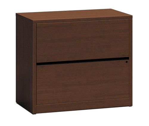 Hon 10500 Series Woodgrain Laminate Two Drawer Lateral File, Mahogany