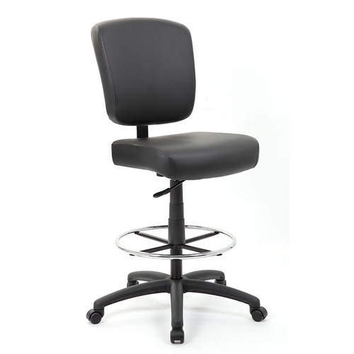 Oversized Drafting Stool w/ Easy to Clean Leatherette Surfaces