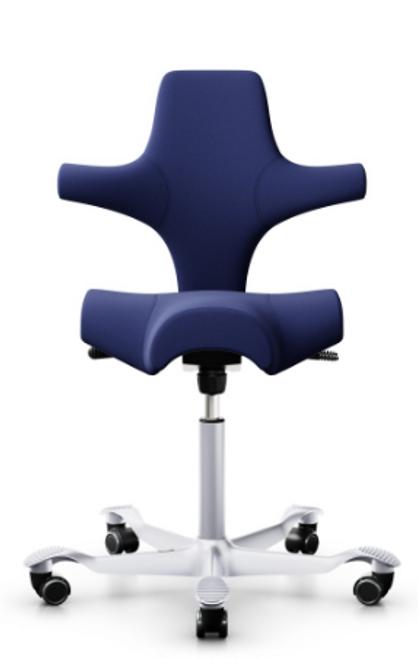 HAG Capisco H8106 Saddle Seat w/ Back in Camira Chicago fabric with white base
