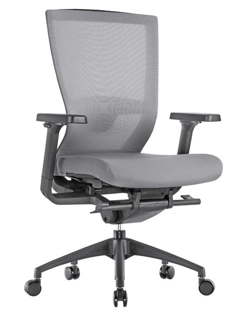 Motivate High Back Ergonomic Task Fog Gray