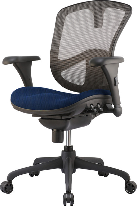 Relax Ergonomic Task Chair Blue Fabric Seat
