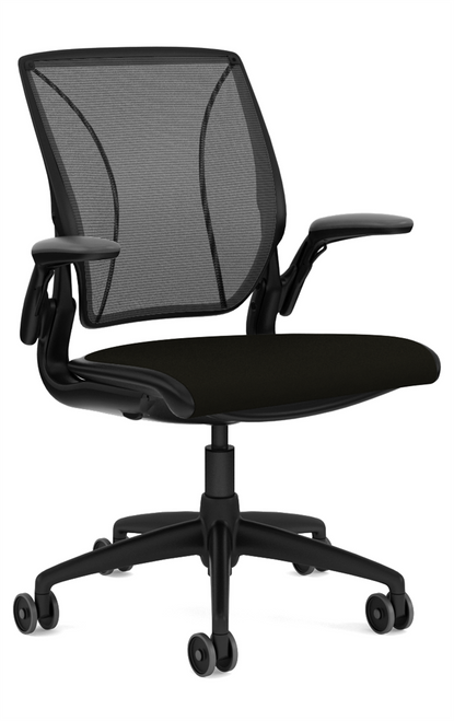 Humanscale Diffrient Quick Ship World Chair in Corde4 Black Seat Black Back