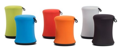 Sulli Height Adjustable Perch Stool in Yellow Green, Blue Ocean, Hot Red, Action Orange, Cool Grey, Smooth Black