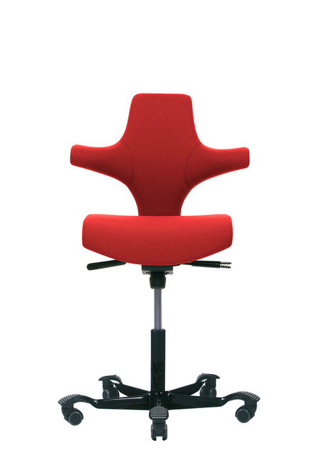 HAG Capisco H8126  Flat Seat Red w/ Black Foot-base
