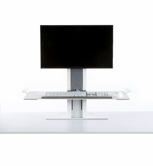 Humanscale QuickStand Large Platform with White with Gray Trim Finish