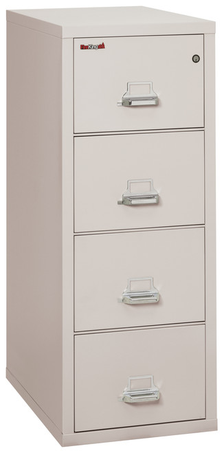 FireKing 4 Drawer Fireproof Vertical File Cabinet in Platinum *Ships in 5 days!