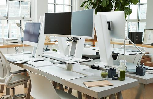 Humanscale QuickStand Large Platform Dual Monitor Mount