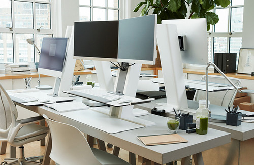 Humanscale QuickStand Large Platform Dual Monitor Mount