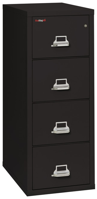 FireKing 4 Drawer Fireproof Vertical File Cabinet in Black *Ships in 5 days!