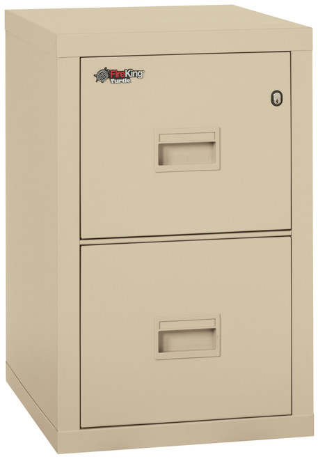 FireKing Turtle 2 Drawer Compact Fireproof Vertical File in Parchment only