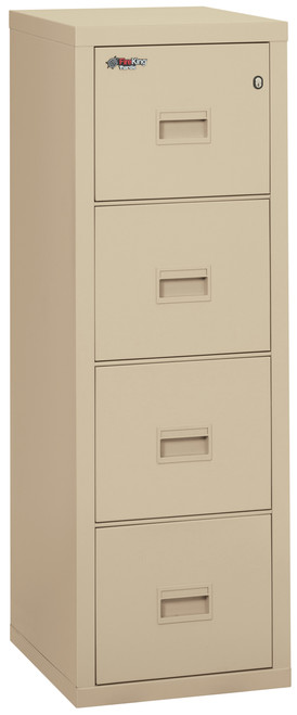 FireKing Turtle 4 Drawer Compact Fireproof Vertical File in Parchment only