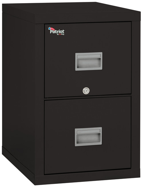 FireKing Patriot 2 Drawer Fireproof Vertical File Cabinet, black