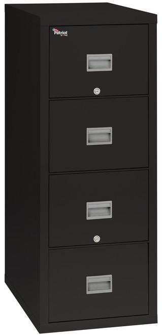 FireKing Patriot 2 Drawer Fireproof Vertical File Cabinet, black