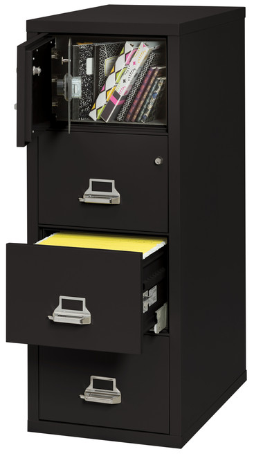 FireKing 4 Drawer Fireproof Vertical Safe-in-a-file Cabinet in Black *Ships in 5 days!