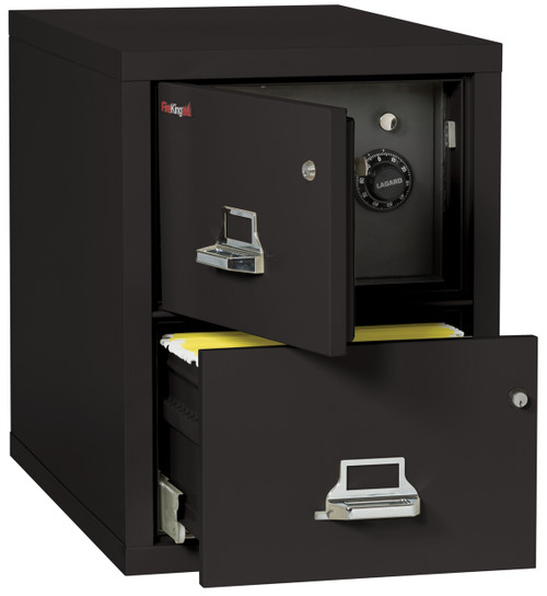 FireKing 2 Drawer Fireproof Vertical Safe-in-a-file Cabinet in Black *Ships in 5 days!