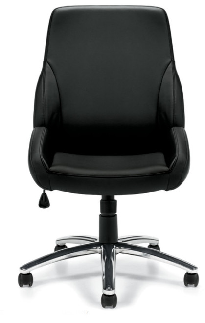 Specialty Luxhide Tilter Chair in stocked Black luxhide