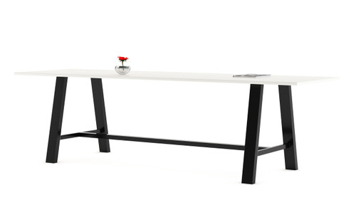 "Rectangular Fuse Table with Designer White Laminate Top and 29"" Midtown Base"