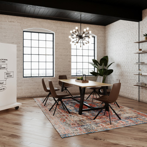 Urban Loft Natural Wood Top Conference Work Table