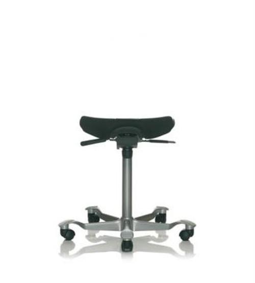 HAG Capisco Upholstered Puls Saddle Stool with Silver base