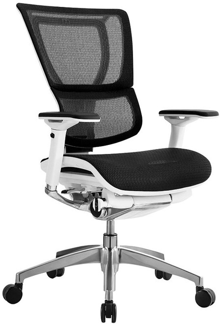EuroTech  iOO Executive Mesh Back Chair with Black Mesh and White Frame