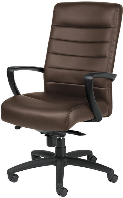 EuroTech Manchester High-Back Leather Executive Chair in Brown Leather
