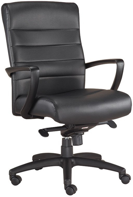 EuroTech Manchester Mid-Back Leather Executive Chair with black leather