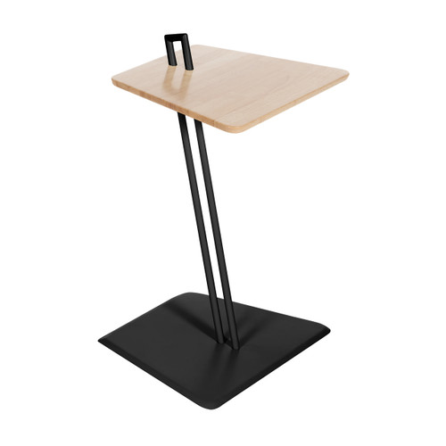 Connect™ Laptop C Table with natural butcher block top