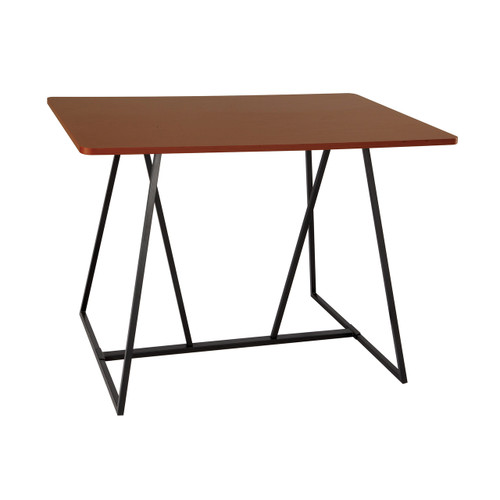 Oasis™ Sitting Height Teaming Table  in Cherry laminate