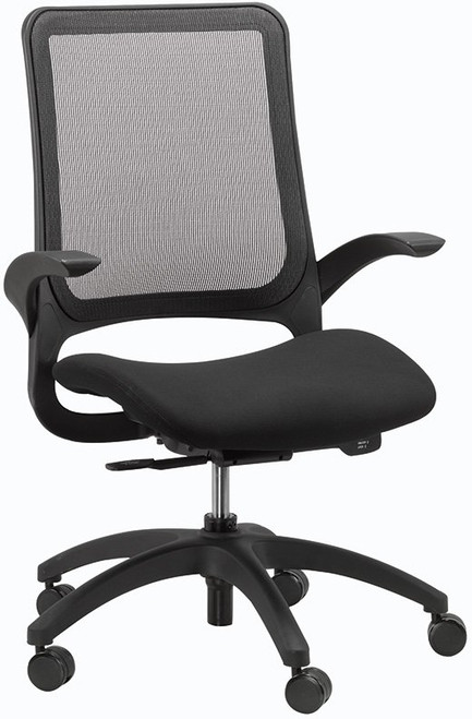 EuroTech Hawk Synchro-Tilt Weight Sensing Task Chair with Black Fabric