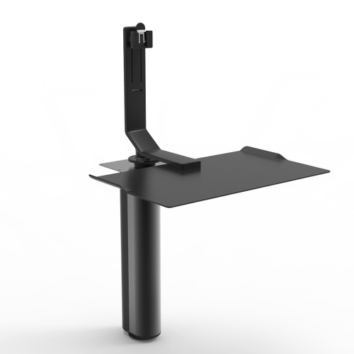 QuickStand Under Desk SitStand in black with FS Single Monitor Mount