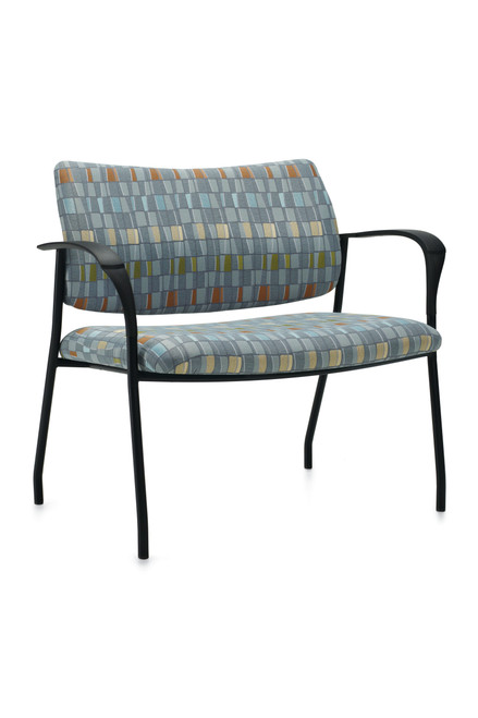 """GlobalCare Sidero 36"""" Stacking Bariatric Lounge with black frame"""