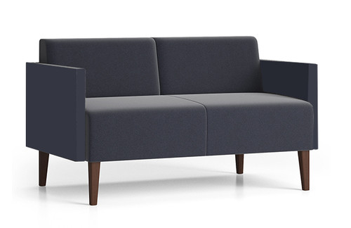 Luxe Heavy Duty Loveseat with single upholstery and wood legs