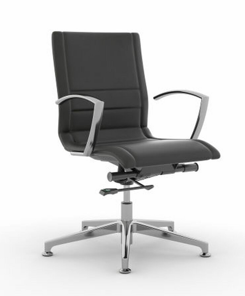 Niles Mid-Back Guest Chair, Black