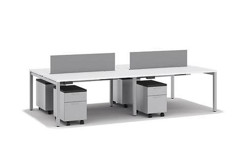 Designer White Laminate and Frame with Platinum fabric screens