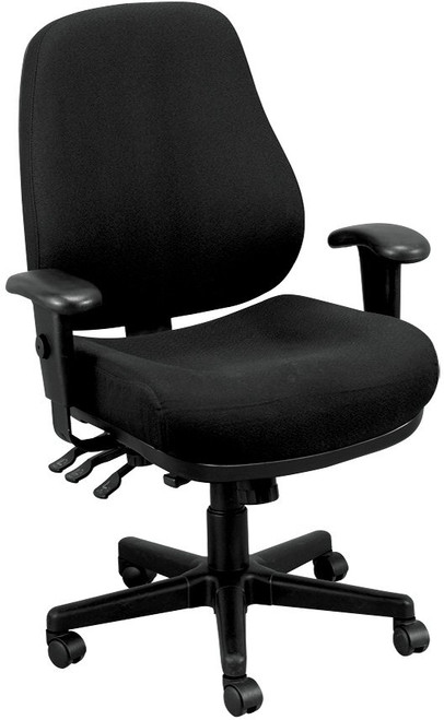 EuroTech 24/7 Intensive Use Chair in Dove Black fabric