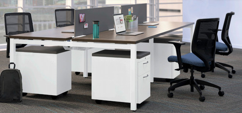 Empower with White Frame, Pinnacle Laminate and Platinum fabric