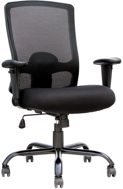 EuroTech Big and Tall High Capacity Task Chair front view