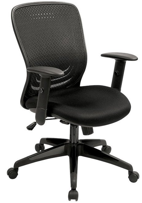 EuroTech Tetra Mesh Back Task Chair front view
