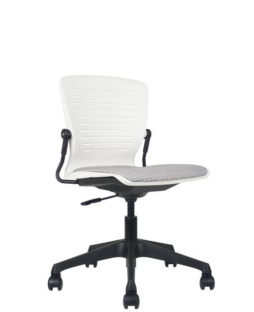 Active Tasker Chair with Upholstered Seat in Knack fabric