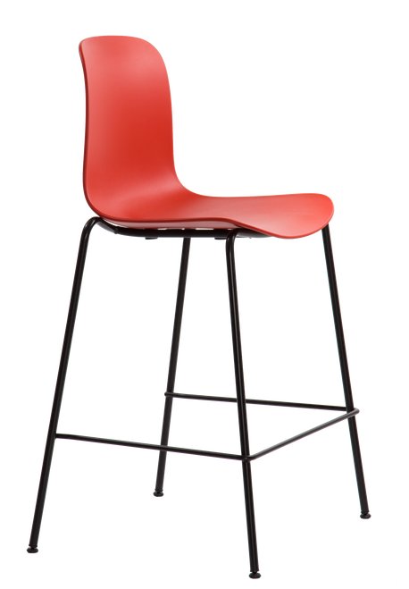 Flux Counter Height Stool Coral Red